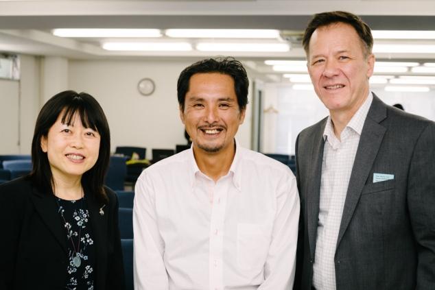 Atsuko, Shinada, and Paul at ICA.